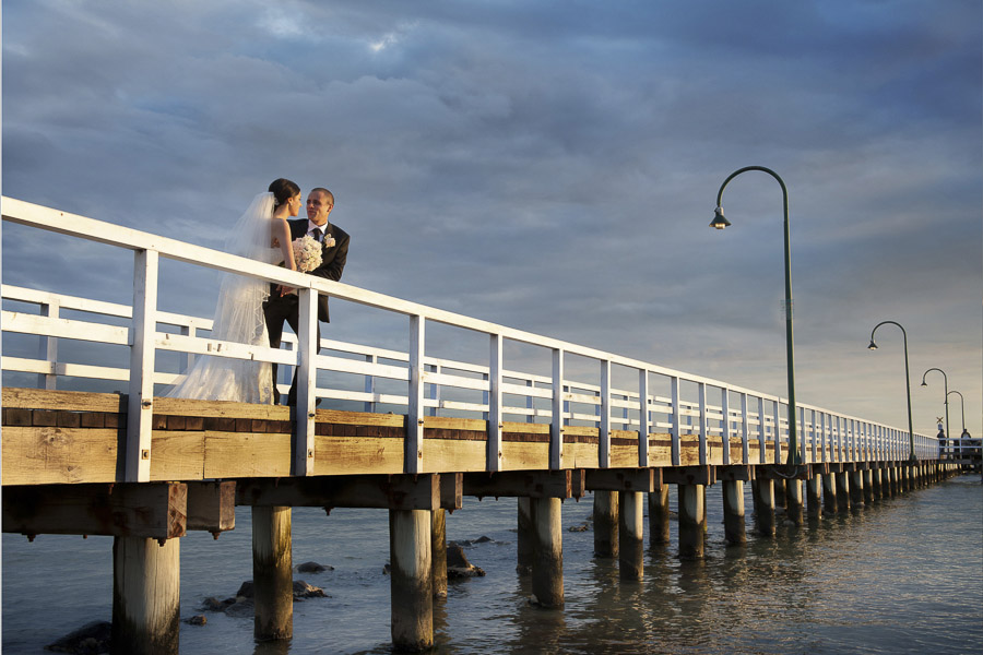 couple at pier